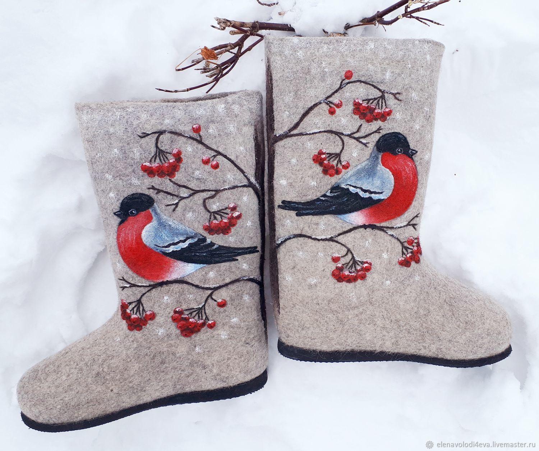 Designer valenki 'bullfinches', Felt boots, Novocheboksarsk,  Фото №1