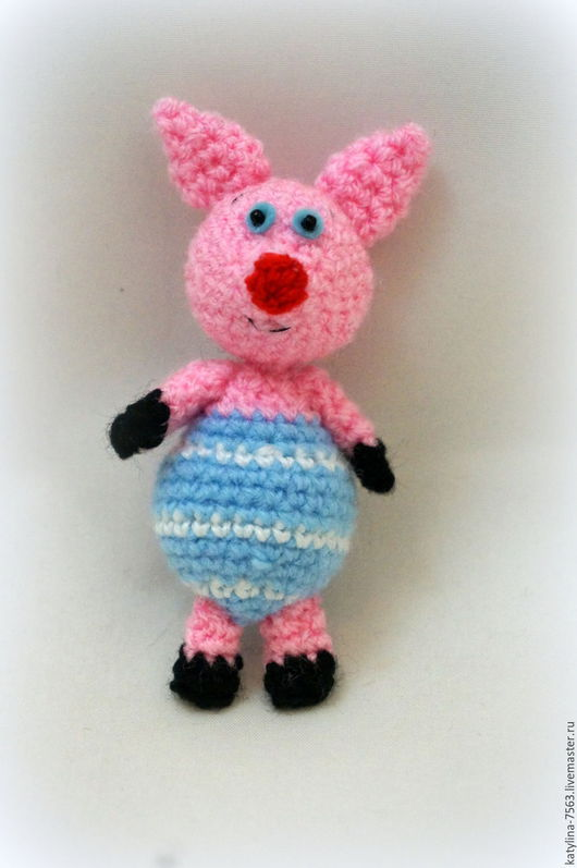 """Игрушки животные, ручной работы. Ярмарка Мастеров - ручная работа. Купить """"Хрюшка"""". Handmade. Розовый, хрюшки, поросята, свинка пеппа"""