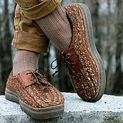 """Обувь ручной работы. Ярмарка Мастеров - ручная работа Теплые туфли-дерби  """"Бурундуки"""". Handmade."""