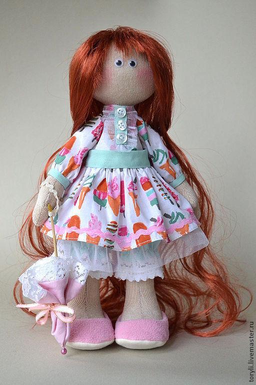 Человечки ручной работы. Ярмарка Мастеров - ручная работа. Купить Текстильная кукла Мирослава. Handmade. Кукла, коллекционная кукла, пуговицы