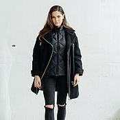 Одежда ручной работы. Ярмарка Мастеров - ручная работа Пуховое пальто + лёгкая пуховая жилетка. Handmade.