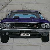 Картины и панно ручной работы. Ярмарка Мастеров - ручная работа Панно Dodge Challenger R/T 1970. Handmade.