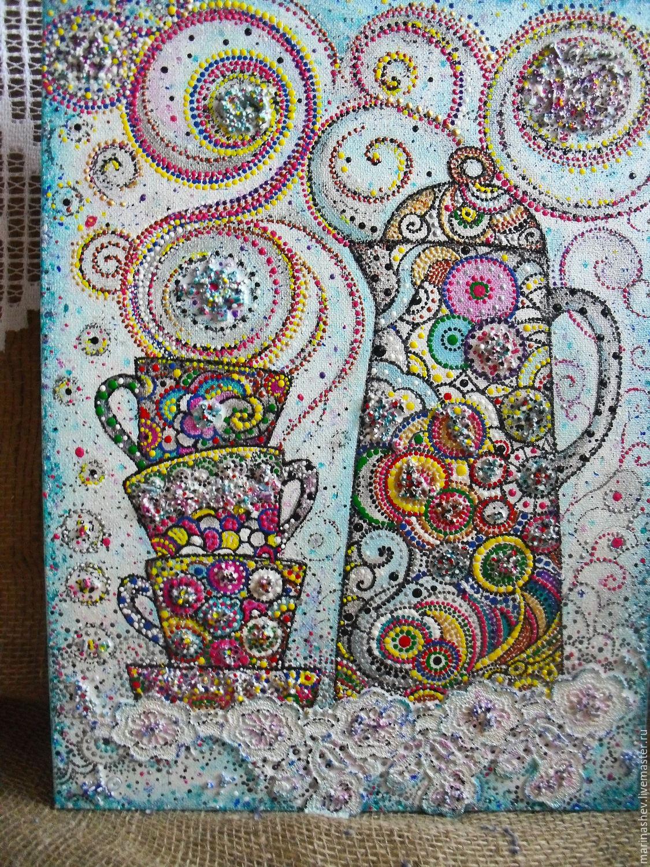 Натюрморт ручной работы. Ярмарка Мастеров - ручная работа. Купить Панно 40 х 30 на грунтованном холсте.Роспись. Handmade.