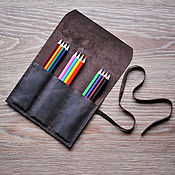 Канцелярские товары handmade. Livemaster - original item pencil case for pens and pencils leather. Handmade.
