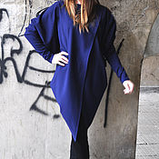 Одежда handmade. Livemaster - original item Asymmetrical, long cotton tunic - TU0540PM. Handmade.