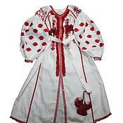 Одежда handmade. Livemaster - original item Embroidered long dress. Boho dress.     Hijab. Abay. Handmade.