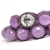 Украшения handmade. Livemaster - original item Set of bracelets Shambala suede with Brazilian amethyst. Handmade.