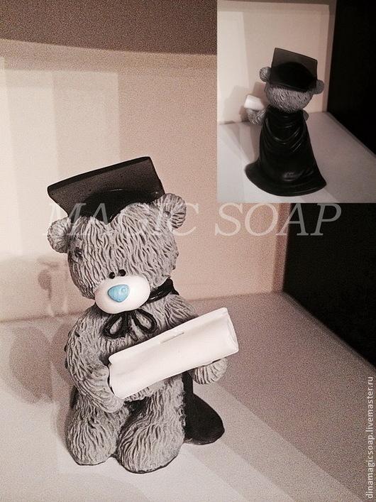 """Мыло ручной работы. Ярмарка Мастеров - ручная работа. Купить """" Мишка выпускник"""" мыло ручной работы 3d. Handmade."""