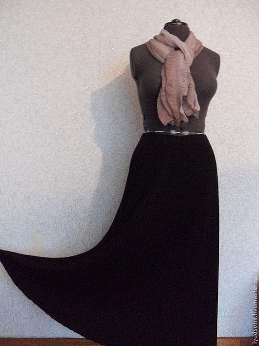 Юбки ручной работы. Ярмарка Мастеров - ручная работа. Купить Чёрное плиссе.. Handmade. Черный, юбка в пол
