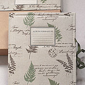 Канцелярские товары handmade. Livemaster - original item Album for Forest herbarium (A4, for 25 plants). Handmade.