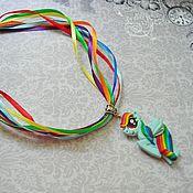 Работы для детей, ручной работы. Ярмарка Мастеров - ручная работа Кулон. Мой маленький пони. Радуга Дэш (Rainbow Dash). Handmade.
