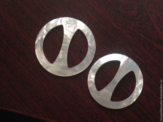 """Для украшений ручной работы. Ярмарка Мастеров - ручная работа. Купить Кольцо """"Жемчужный круг""""  для платка из перламутра (2 размера).. Handmade."""
