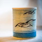 Для дома и интерьера handmade. Livemaster - original item Jar decoupage Seagulls. Handmade.