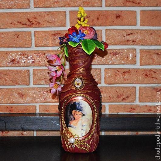 Праздничная атрибутика ручной работы. Ярмарка Мастеров - ручная работа. Купить Декорация бутылок, банок, фляжек к юбилею и дню рождения. Handmade.