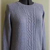"""Одежда ручной работы. Ярмарка Мастеров - ручная работа Вязаный твидовый свитер """"Сирень"""". Handmade."""