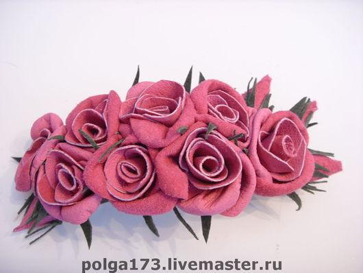 """Заколки ручной работы. Ярмарка Мастеров - ручная работа. Купить Заколка """"Розовый мотив"""". Handmade. Заколка, заколка с розами"""