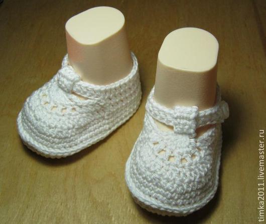 Для новорожденных, ручной работы. Ярмарка Мастеров - ручная работа. Купить Пинетки-сандалики Топ-Топ вязаные крючком для детей. Handmade.