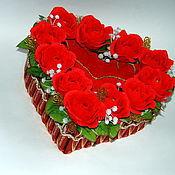 Цветы и флористика ручной работы. Ярмарка Мастеров - ручная работа Букет из конфет Сердце. Handmade.