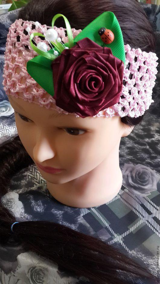 Заколки ручной работы. Ярмарка Мастеров - ручная работа. Купить повязка на голову. Handmade. Комбинированный, повязка на голову, резинка для волос