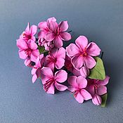 Украшения handmade. Livemaster - original item Studs with Sakura flowers. polymer clay.. Handmade.