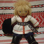 """Куклы и игрушки ручной работы. Ярмарка Мастеров - ручная работа Чуваш """"Сетнер"""" 22 см кукла народная национальная в вальдорфс. Handmade."""
