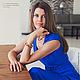 """Платья ручной работы. Ярмарка Мастеров - ручная работа. Купить Платье """"Глубокое синее море..."""". Handmade. Платье"""