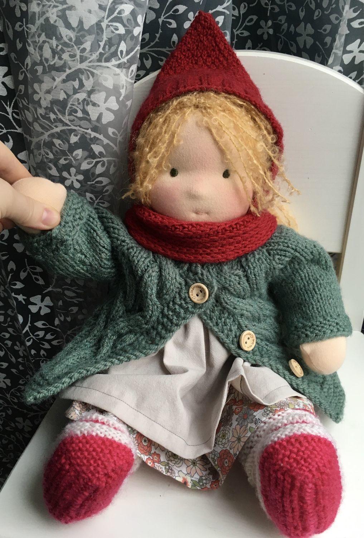Вальдорфская кукла 38см, Вальдорфские куклы и звери, Люберцы,  Фото №1