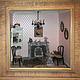 """Миниатюра ручной работы. Ярмарка Мастеров - ручная работа. Купить Румбокс """"У камина"""". Handmade. Бледно-розовый, коллекционная миниатюра"""