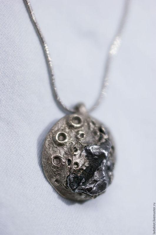 Кулоны, подвески ручной работы. Ярмарка Мастеров - ручная работа. Купить Кулон с метеоритом Луна. Handmade. Metalclay, звезды, космос