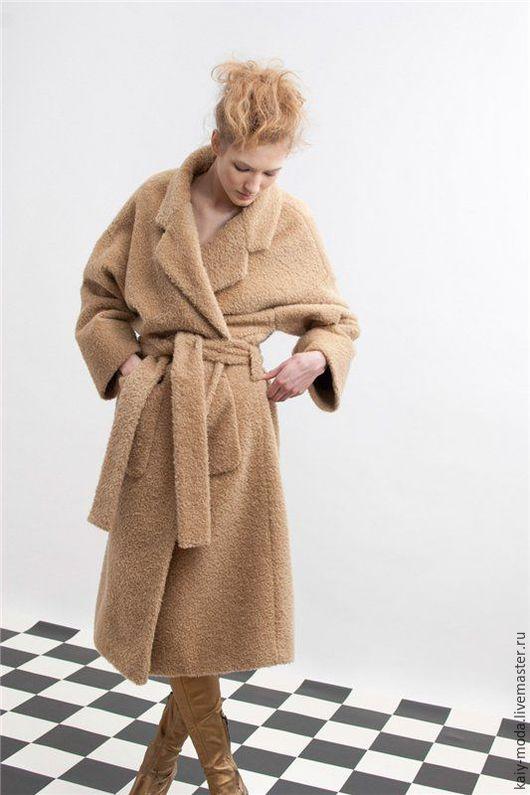 Верхняя одежда ручной работы. Ярмарка Мастеров - ручная работа. Купить Демисезонное пальто из буклированной ткани. Handmade. Бежевый, пальто