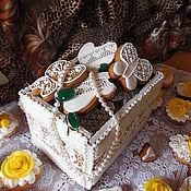 Сувениры и подарки handmade. Livemaster - original item Gingerbread gingerbread.The gingerbread box.Culinary souvenir.. Handmade.