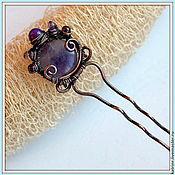 Украшения ручной работы. Ярмарка Мастеров - ручная работа Шпилька для волос Фиолетовый шарм. Handmade.