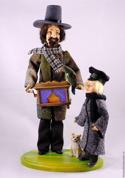 Коллекционные куклы ручной работы. Ярмарка Мастеров - ручная работа. Купить ШАРМАНЩИК авторская кукла. Handmade. Серый