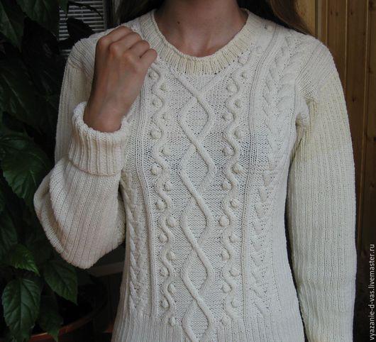 Кофты и свитера ручной работы. Ярмарка Мастеров - ручная работа. Купить Джемпер  женский вязаный  (пуловер) с шишечками. Handmade.