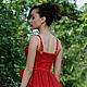 """Платья ручной работы. Ярмарка Мастеров - ручная работа. Купить Вечернее платье """"Рубин"""". Handmade. Ярко-красный, шифон"""