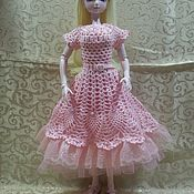 """Одежда для кукол ручной работы. Ярмарка Мастеров - ручная работа Платье """"Розовое"""". Handmade."""