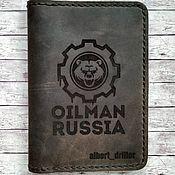 Канцелярские товары handmade. Livemaster - original item Leather cover for  auto documents BROTHER. Handmade.