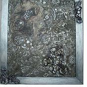 Картины и панно ручной работы. Ярмарка Мастеров - ручная работа Панно-часы стимпанк. Handmade.