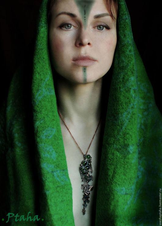 """Кулоны, подвески ручной работы. Ярмарка Мастеров - ручная работа. Купить подвеска""""Капли"""". Handmade. Зеленый, Кулон ручной работы, гальваника"""
