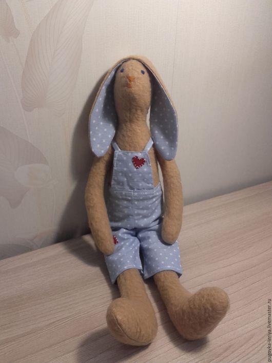 Куклы Тильды ручной работы. Ярмарка Мастеров - ручная работа. Купить Тильда заяц Лаки. Handmade. Бежевый, тильда зайцы
