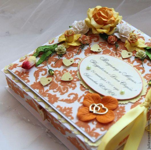 """Конверты для денег ручной работы. Ярмарка Мастеров - ручная работа. Купить Большая коробочка """"Золотая осень"""". Handmade. Оранжевый, конверт"""