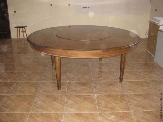 Мебель ручной работы. Ярмарка Мастеров - ручная работа. Купить Обеденный стол.. Handmade. Коричневый, круглый стол, мебель для гостинной