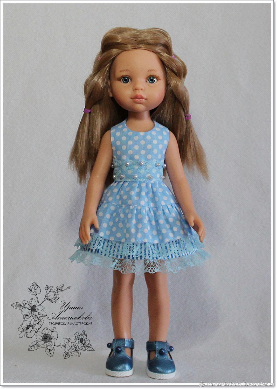 """сарафан """"Голубой"""" для Паолы, Одежда для кукол, Краснотурьинск,  Фото №1"""