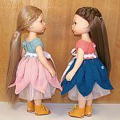 Одежда для кукол ручной работы. Ярмарка Мастеров - ручная работа Платье вязаное и фатиновая юбка для Паола Рейна. Handmade.