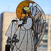 """Для дома и интерьера ручной работы. Ярмарка Мастеров - ручная работа Витраж """"Ангел"""". Handmade."""
