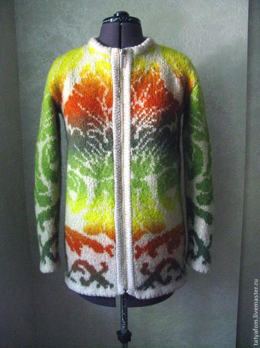 """Пиджаки, жакеты ручной работы. Ярмарка Мастеров - ручная работа. Купить Пальто укороченное """"Осенняя симфония"""". Handmade. Кауни, молния"""