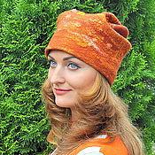 Аксессуары ручной работы. Ярмарка Мастеров - ручная работа шапка Рыжая. Handmade.