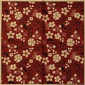 Материалы для творчества handmade. Livemaster - original item 9pcs napkins for decoupage decoupage maroon printed cotton. Handmade.