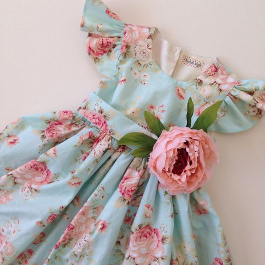 """Одежда для девочек, ручной работы. Ярмарка Мастеров - ручная работа. Купить Платье для принцессы """"Пионы и мята"""". Handmade. Платье"""