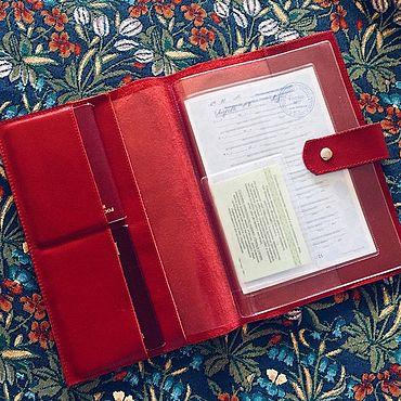 Канцелярские товары ручной работы. Ярмарка Мастеров - ручная работа Папка для документов с файлами А5 / А4. Handmade.